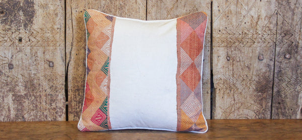 Rustic Tribal Lace Pillow
