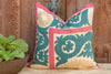 Aali Antique Pastel Marriage Suzani Pillow (Trade)