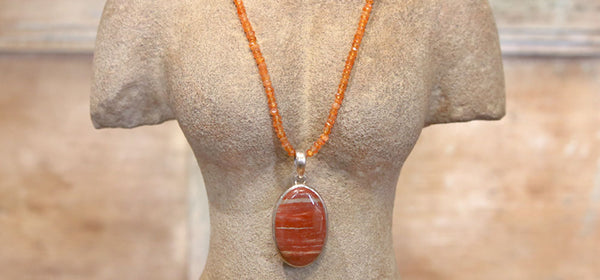 Red Jaspar and Carnelian Agate Necklace