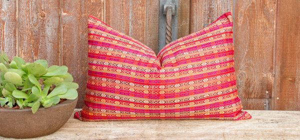Adira Mansehra Wedding Silk Shawl Pillow