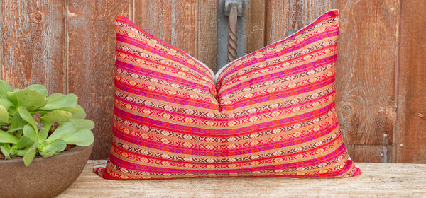 Alice Mansehra Wedding Silk Shawl Pillow