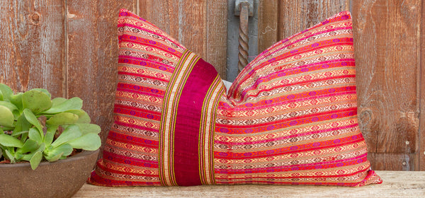 Dhami Mansehra Wedding Silk Shawl Pillow