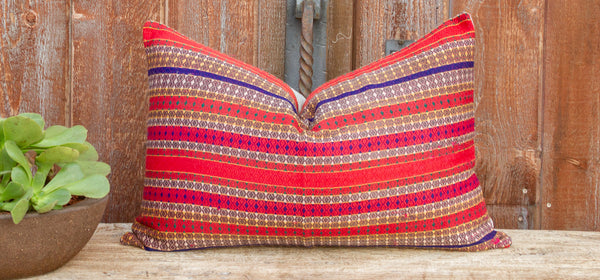 Helen Mansehra Wedding Silk Shawl Pillow