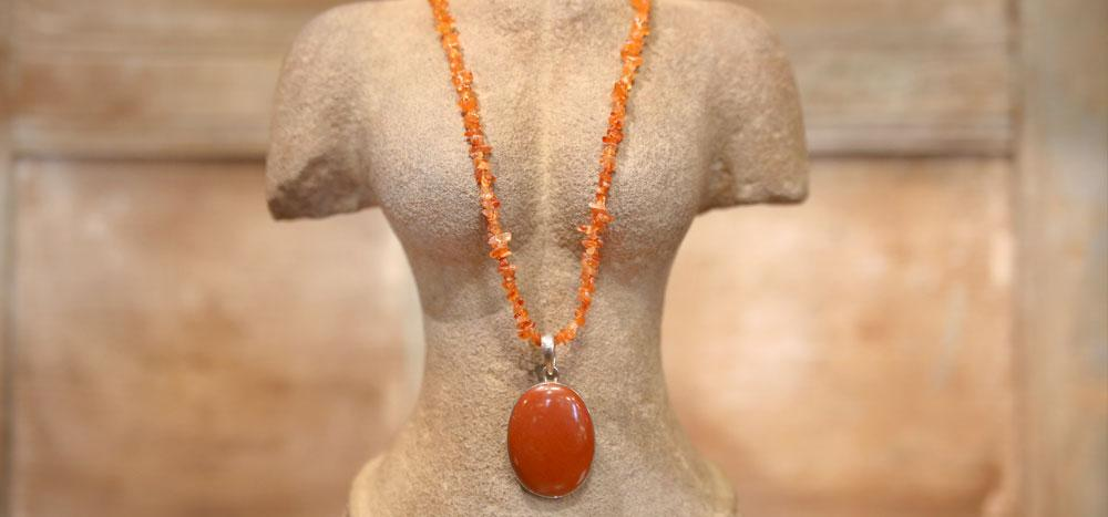 Stunning Red Jasper and Coral Necklace (Trade)