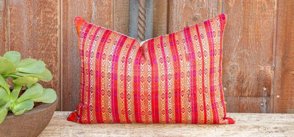 Grace Mansehra Wedding Silk Shawl Pillow (Trade)