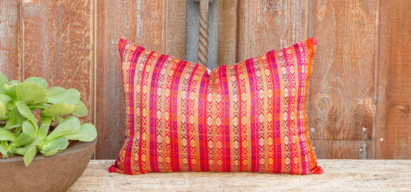 Lindi Mansehra Wedding Silk Shawl Pillow