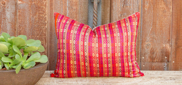 Kelly Mansehra Wedding Silk Shawl Pillow
