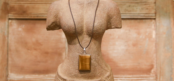Tiger's Eye Stone Necklace