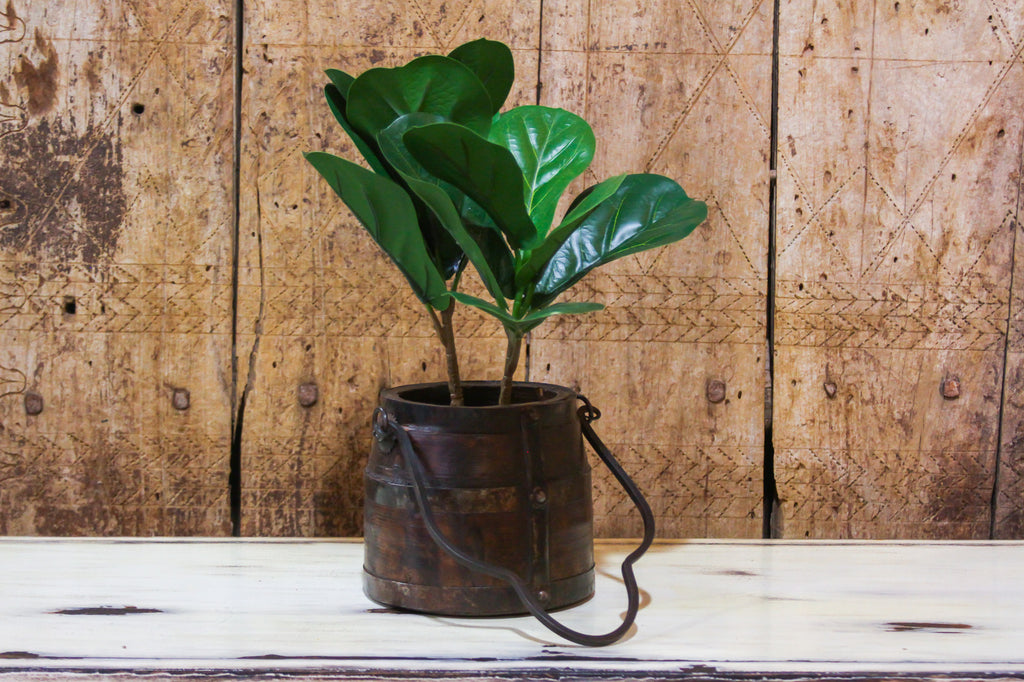 Aged  Wooden Dolchi Planter