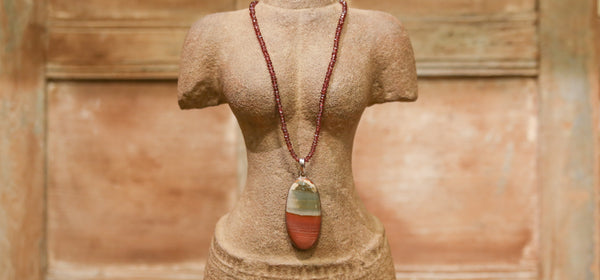 Unakite Jasper & Garnet Necklace