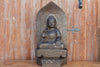 Carved Antique Black Stone Buddha Statue