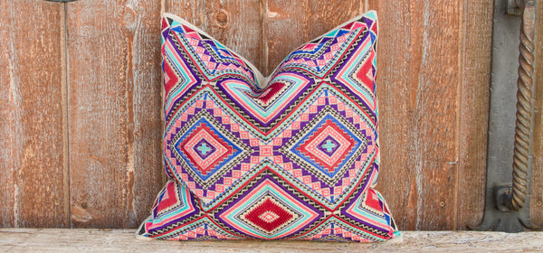 Mia Tenejapa Silk Embroidered Pillow