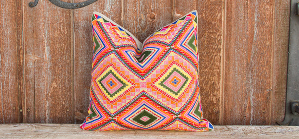 Sarahita Tenejapa Silk Embroidered Pillow