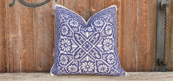 Azul Tenejapa Silk Embroidered Pillow