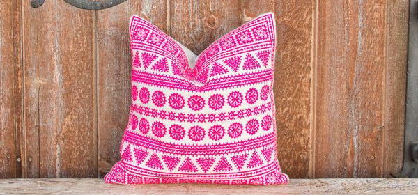 Rosita Tenejapa Silk Embroidered Pillow