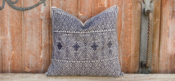 Diego Tenejapa Silk Embroidered Pillow