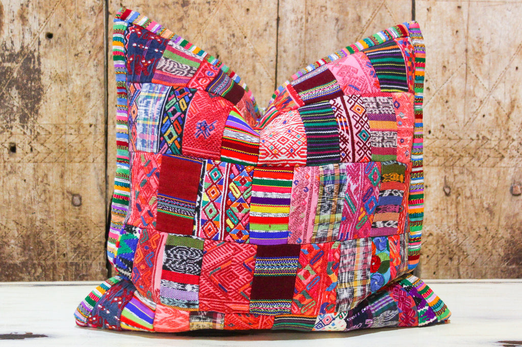 Vibrant Patchwork Tribal Pillow