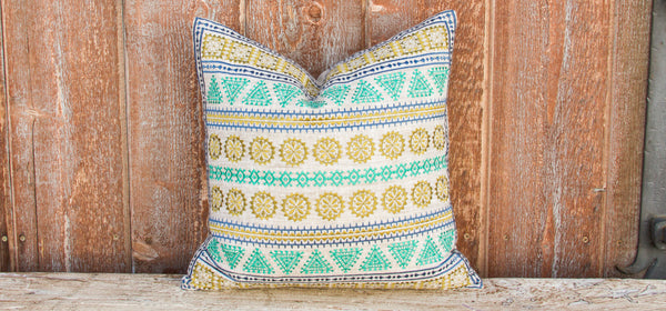 Valeria Tenejapa Silk Embroidered Pillow