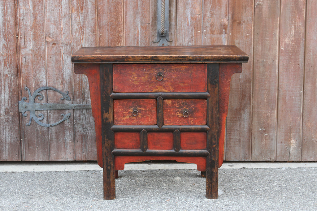 Magnificent Red Painted Money Dresser