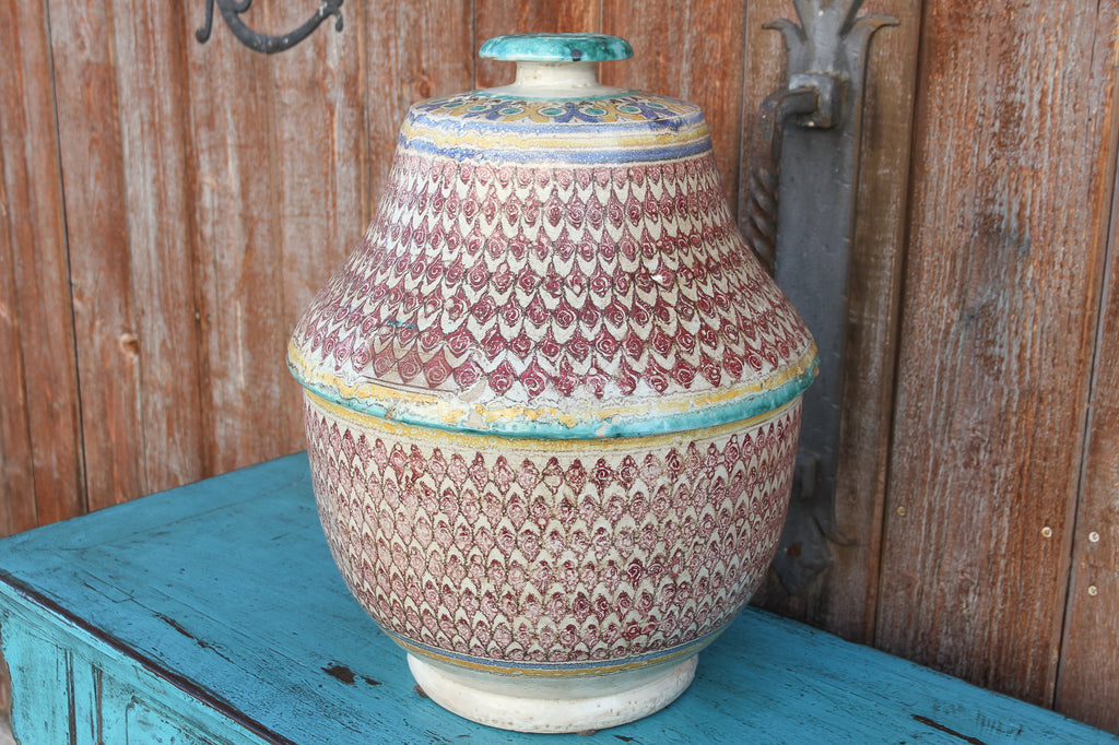 Antique Shankh Moroccan Large Jar