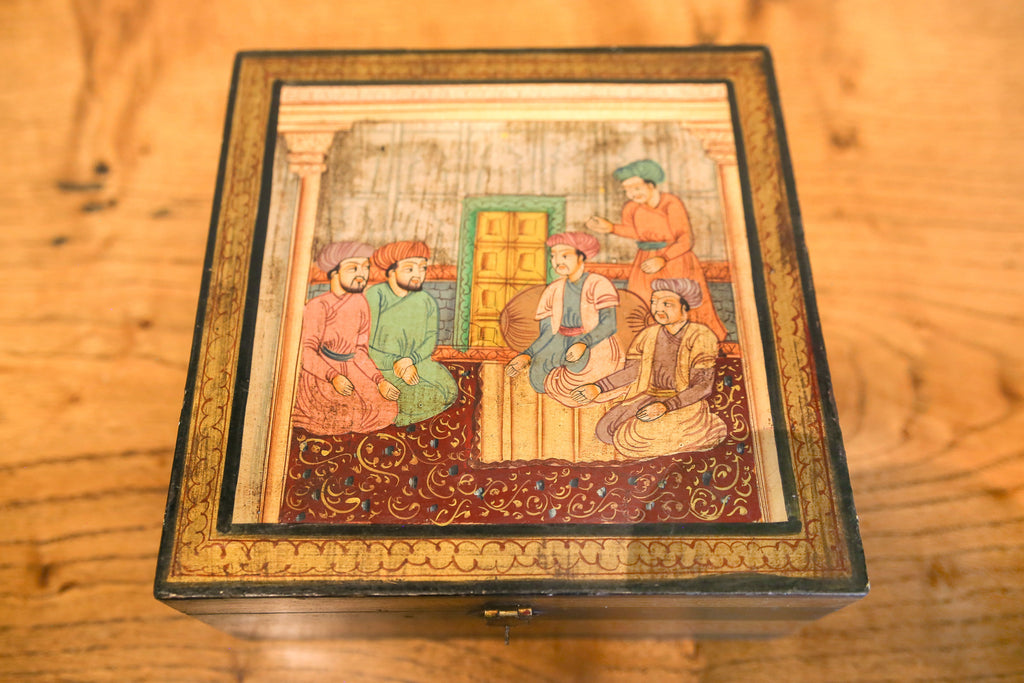 Aged Mughal Hand Painted Box
