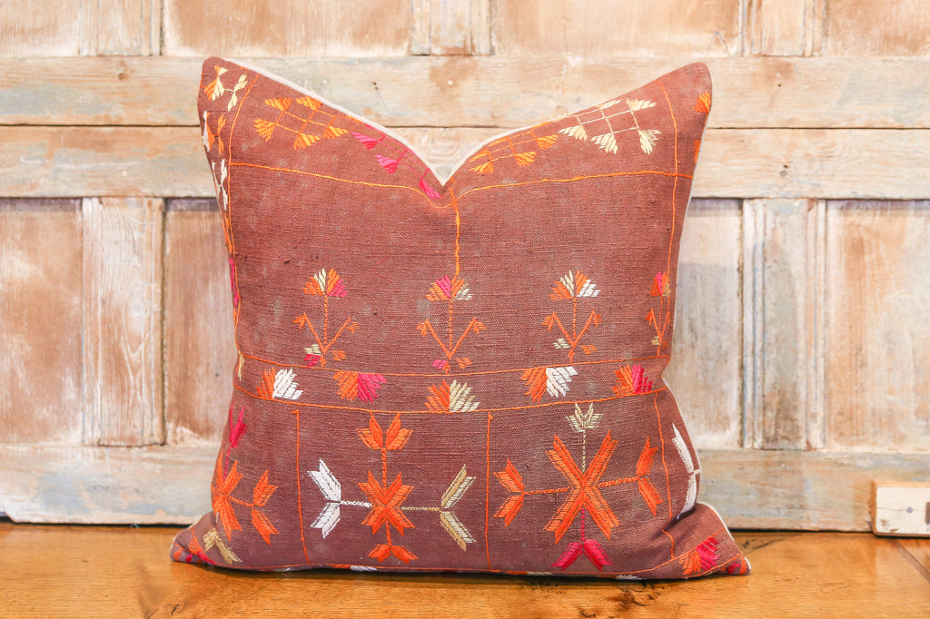 Sandya Bagh Phulkari Pillow (square)