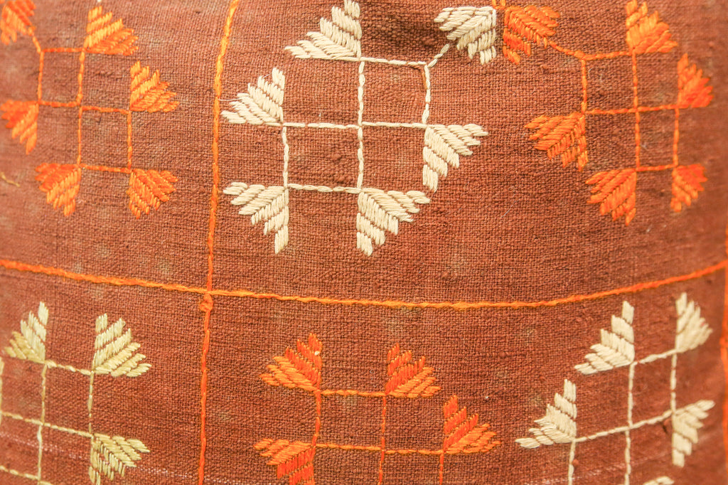 Sowri Bagh Phulkari Pillow (square)