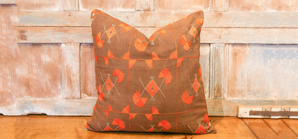 Hera Bagh Phulkari Pillow (square)