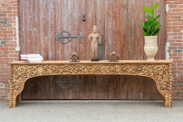 Fantastic Indo-French Amarante Carved Console