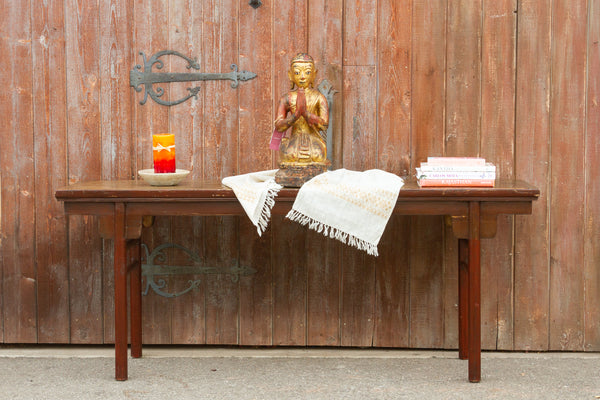 Antique Painted Chinese Altar Console Table