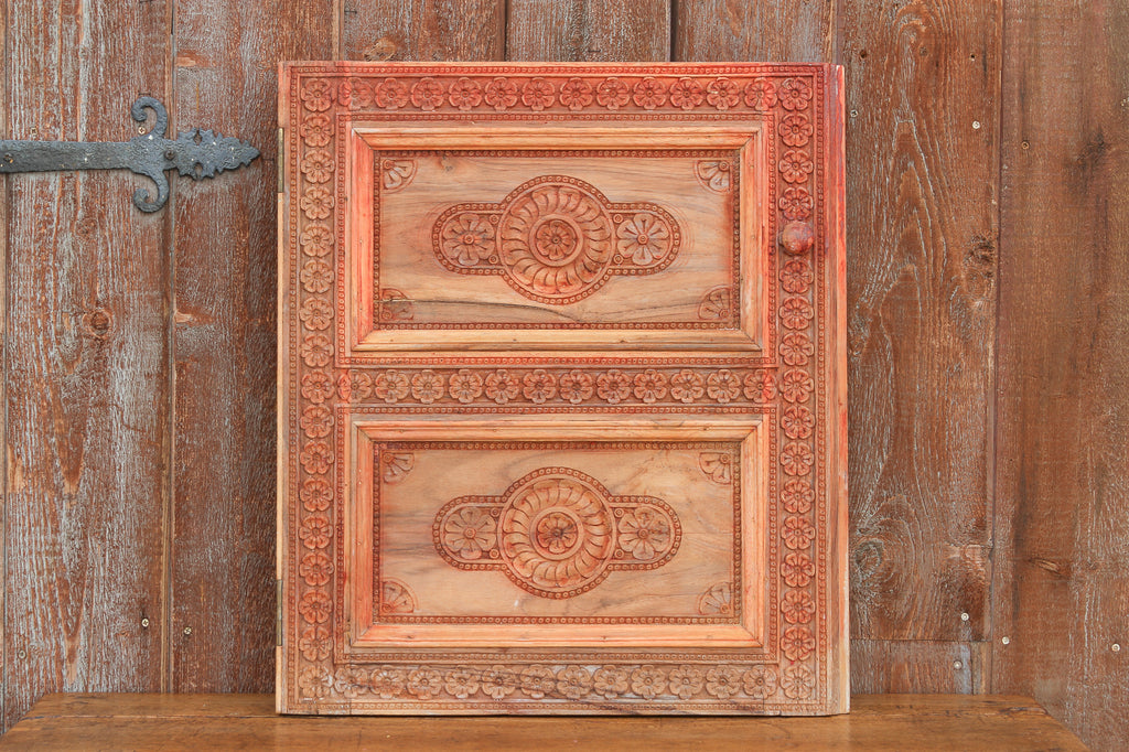 Antique Tall Chinar Kashmir Wood Panel