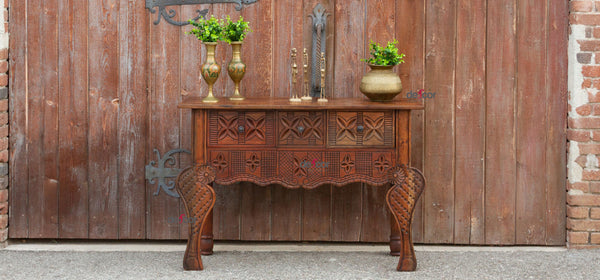 Handsome Nahuala Carved Console