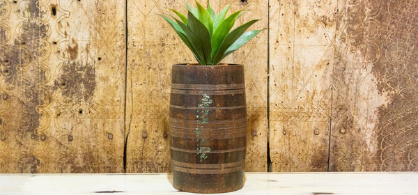 Tribal Dholki Wooden Planter