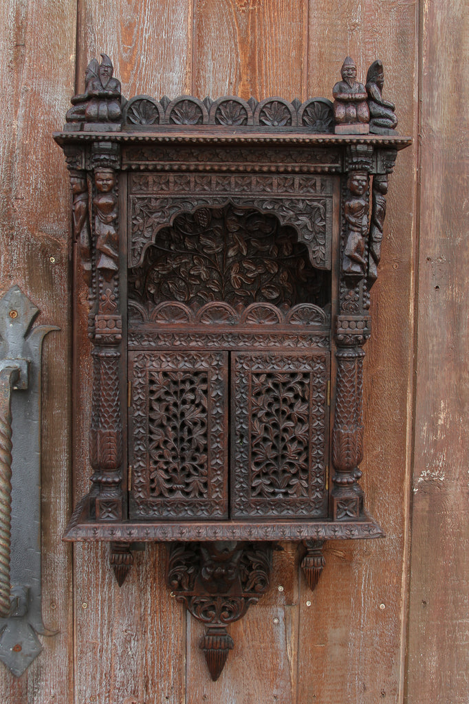 Rare Anglo Indian Carved Cabinet