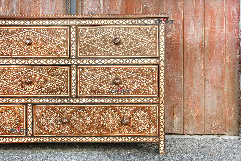 Royal Anglo Indian Bone Inlay Dresser