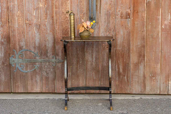Antique Black & Gilt Chinoiserie Side Table