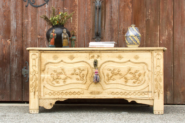 18th Century Bleached French Oak Coffer