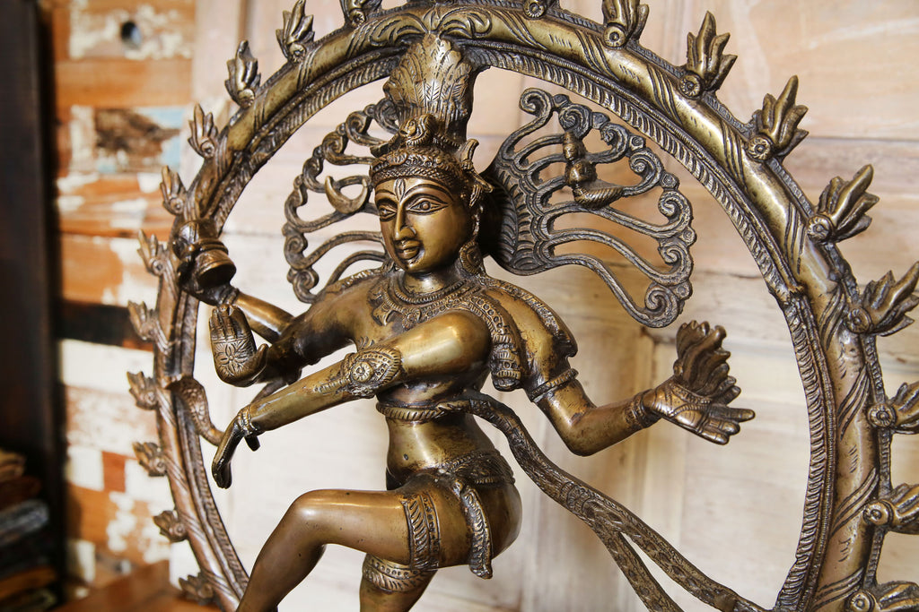 Grand Aged Brass Nataraja