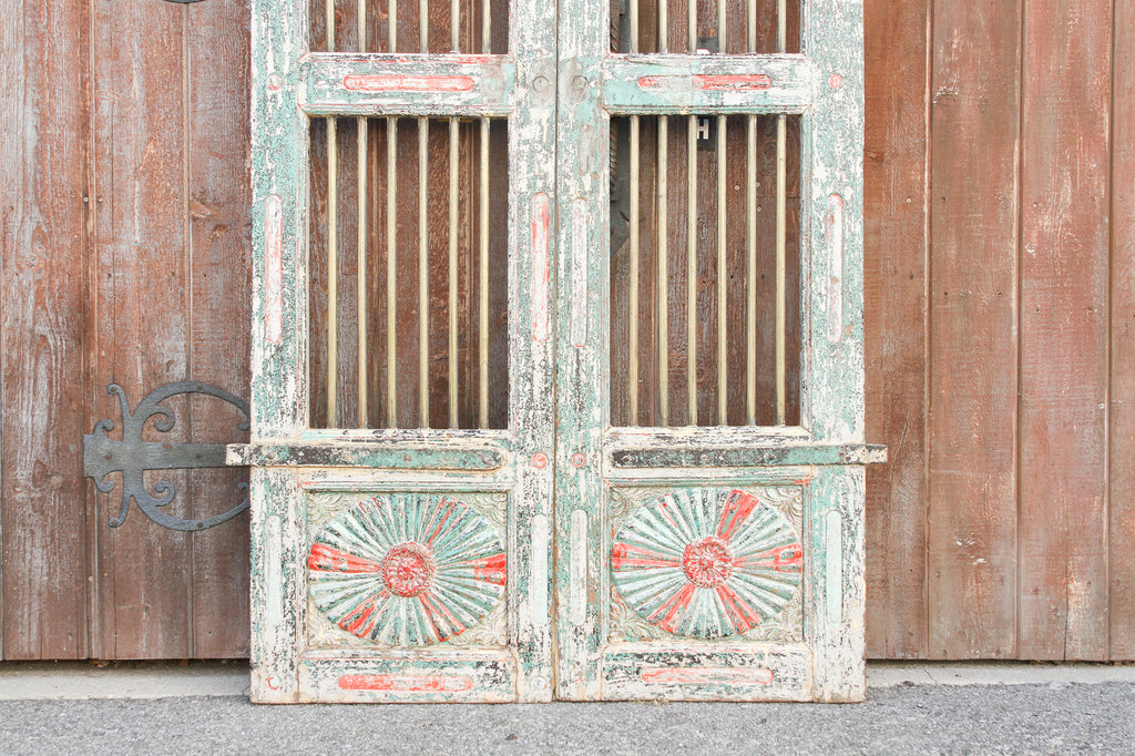 Antique Solid Brass Jali Haveli Door