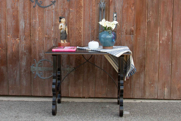 Ebonized Spanish Lyra Writing Table
