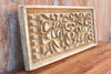 Antique Baroque Wood Block Printing Panel