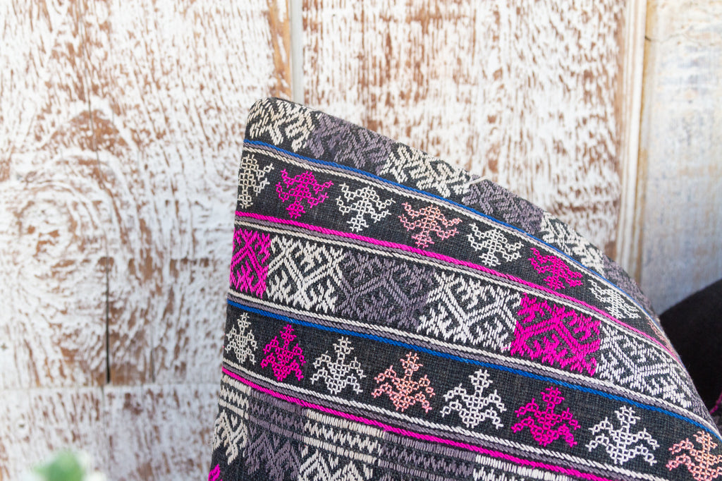 Vintage Silk Kantha Scarf (Red Yellow)