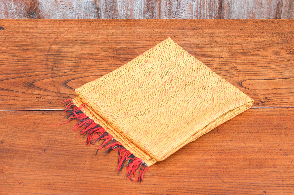 Golden Silk Kantha Scarf