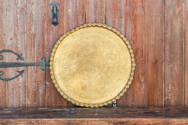 Moorish Brass Engraved Large Platter