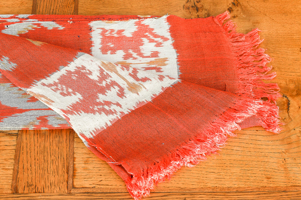 Red Ikat Tapestry