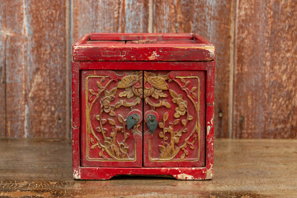 Small Qing Dynasty Style Jewelry Chest