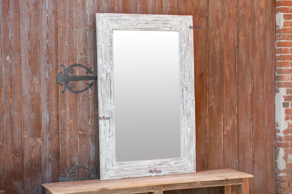 Whitewash Shabby Mirror