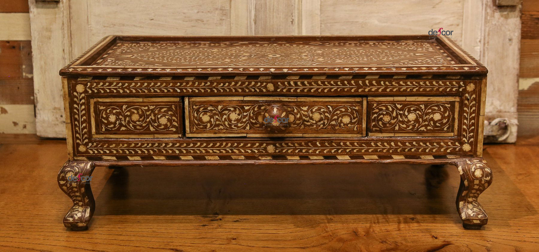 Anglo Indian Bone Inlay Gulut Altar Table