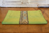 Thin Striped Green Beaded Heritage Silk Runner