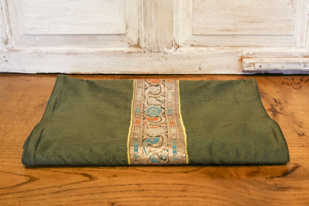 Olive Belled Heritage Silk Runner